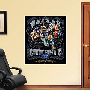 Crusher Cowboy - Grinding It Out Mural Fathead Wall Decal