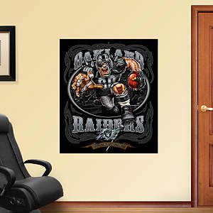 Rabid Raider - Grinding It Out Mural Fathead Wall Decal