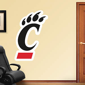 Cincinnati Bearcats Logo Fathead Wall Decal
