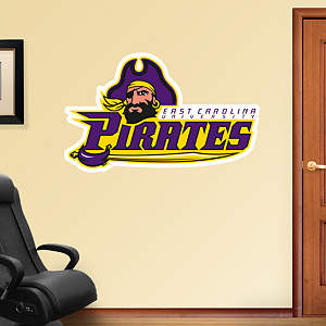 East Carolina Pirates Retro Logo Fathead Wall Decal