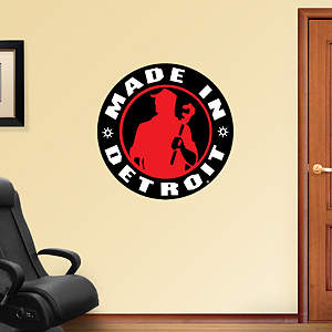 Made in Detroit Logo Fathead Wall Decal