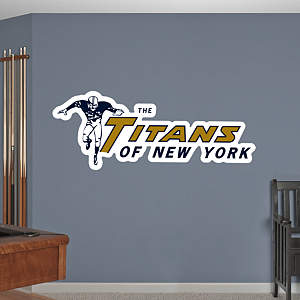 Titans of New York Original AFL Logo Fathead Wall Decal