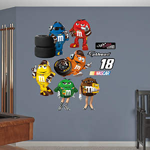 Kyle Busch #18 M&M's Pit Crew Collection Fathead Wall Decal