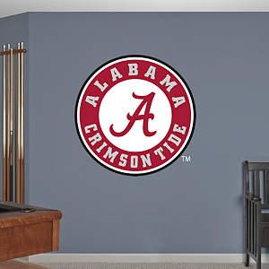 Alabama crimson tide circle logo fathead wall decal for Alabama wall mural