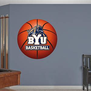 BYU Cougars Basketball Logo Fathead Wall Decal