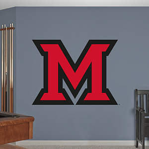 "Miami Redhawks ""Block M"" Logo Fathead Wall Decal"