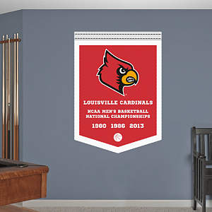 Louisville Cardinals 2013 NCAA® Men's Championships Banner Fathead Wall Decal