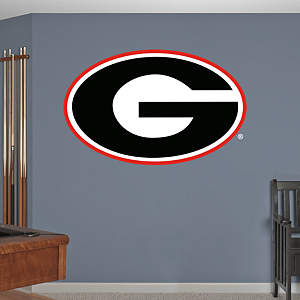 Georgia Bulldogs Logo Fathead Wall Decal