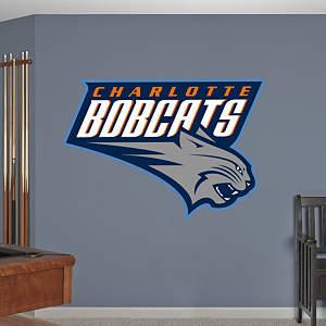 Charlotte Bobcats Logo Fathead Wall Decal