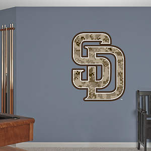 San Diego Padres Camouflage Logo Fathead Wall Decal