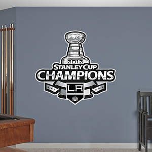 Los Angeles Kings 2012 Stanley Cup Champions Logo Fathead Wall Decal