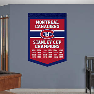 Montreal Canadiens Stanley Cup Champions Banner Fathead Wall Decal