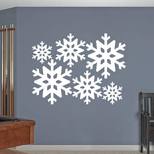 Snowflake Collection Fathead Wall Decal
