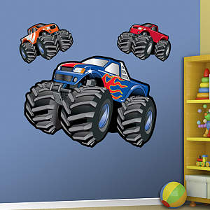 Monster Trucks Fathead Wall Decal