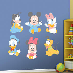 Baby Mickey and Friends Fathead Wall Decal