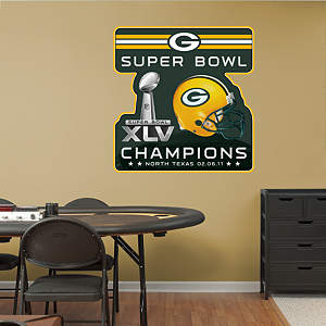 Green Bay Packers Super Bowl XLV Champions Logo Fathead Wall Decal