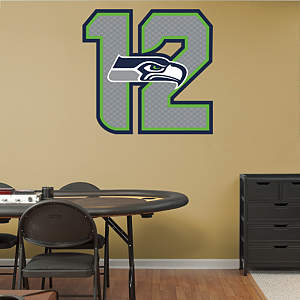 Seattle Seahawks 12 Logo Fathead Wall Decal