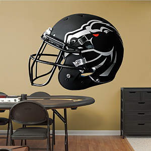 Boise State Broncos Black Helmet Fathead Wall Decal