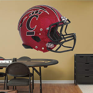Cincinnati Bearcats Carbon Fiber Helmet  Fathead Wall Decal