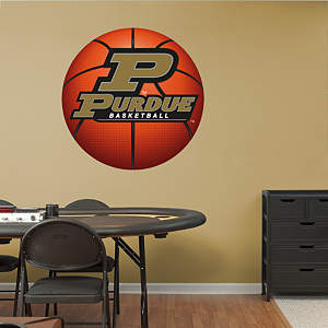 Purdue Boilermakers Basketball Logo Fathead Wall Decal
