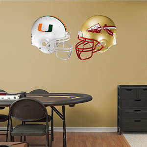 Miami - Florida State Rivalry Pack  Fathead Wall Decal