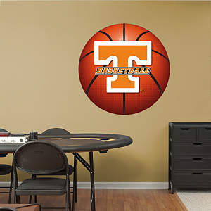 Tennessee Volunteers Basketball Logo Fathead Wall Decal