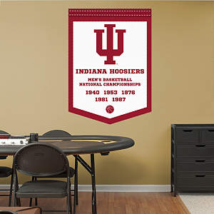 Indiana Hoosiers Men's Basketball National Championships Banner Fathead Wall Decal