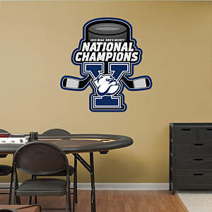 Yale Bulldogs 2013 NCAA® Men's Hockey National Championship Logo Fathead Wall Decal