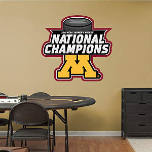 Minnesota Golden Gophers 2013 NCAA® Women's Hockey National Champions Logo Fathead Wall Decal