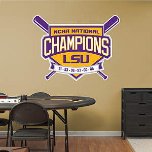 LSU Tigers Baseball National Champions Logo Fathead Wall Decal