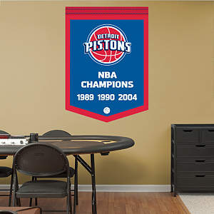 Detroit Pistons NBA Champions Banner Fathead Wall Decal