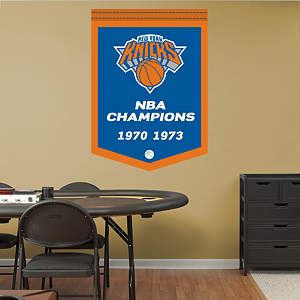 New York Knicks NBA Champions Banner Fathead Wall Decal