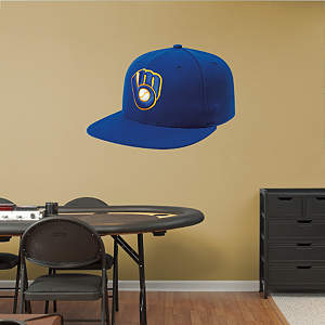 Milwaukee Brewers Alternate Cap Fathead Wall Decal