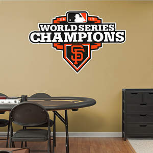 San Francisco Giants 2012 World Series Champions Logo Fathead Wall Decal