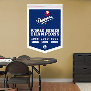 Los Angeles Dodgers World Series Champions Banner Fathead Wall Decal