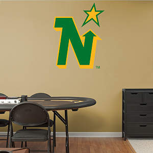 Minnesota North Stars Vintage Logo Fathead Wall Decal