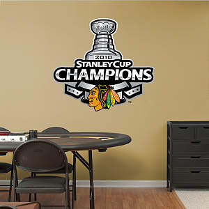 Chicago Blackhawks 2010 Stanley Cup Champions Logo Fathead Wall Decal