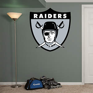 Oakland Raiders Original AFL Logo Fathead Wall Decal