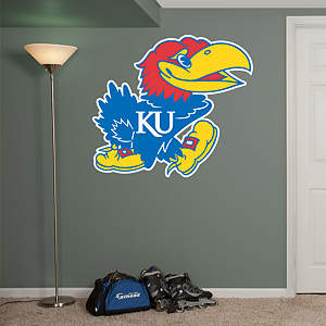 Kansas Jayhawks Logo Fathead Wall Decal