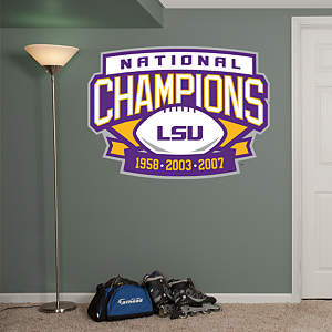 LSU Tigers Football National Champions Logo Fathead Wall Decal