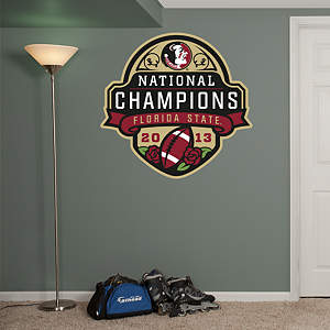 Florida State Seminoles - 2013 National Champions Logo Fathead Wall Decal