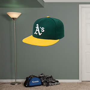 Oakland Athletics Cap Fathead Wall Decal