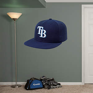 Tampa Bay Rays Cap Fathead Wall Decal