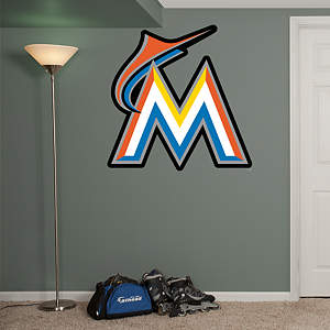 Miami Marlins Logo Fathead Wall Decal
