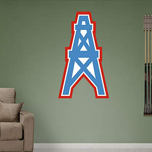 Houston Oilers Original AFL Logo Fathead Wall Decal