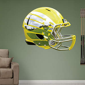 Oregon Ducks Liquid Lightning Yellow Helmet Fathead Wall Decal