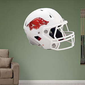 Arkansas Razorbacks White Helmet Fathead Wall Decal