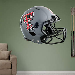 Texas Tech Red Raiders Gray Helmet Fathead Wall Decal