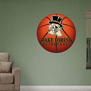 Wake Forest Basketball Logo Fathead Wall Decal