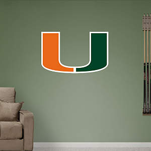 Miami Hurricanes Logo Fathead Wall Decal